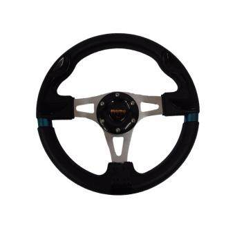 Harga MOMO 13 inch PU Steering Wheel/Drifting Steering Wheel/Racing Steering Wheel -Black