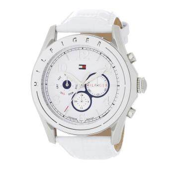 Harga Tommy Hilfiger Watch Avalon White Stainless-Steel Case Leather Strap Ladies NWT + Warranty 1781052