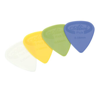 Harga Alice AP-G 20pcs 0.58mm Projecting Nylon Guitar Picks Plectrums