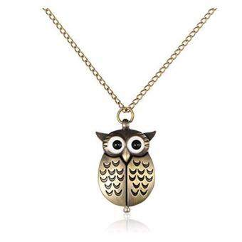 Harga FANCICO Owl Antique Style Delicate Vintage Pocket Watch With Chain