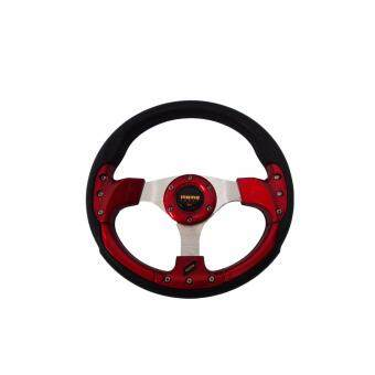 Harga MOMO 13 inch PU Steering Wheel/Drifting Steering Wheel/Racing Steering Wheel -Red