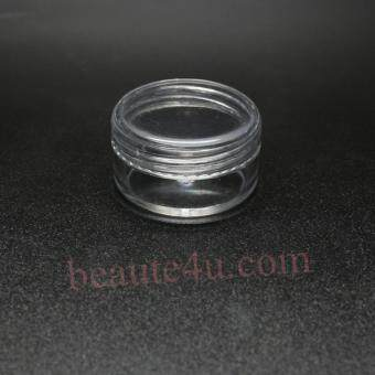 Harga 12Pairs/Lot 10G Mini Empty Plastic Black Lid Clear Body Travel Lip Balm Cosmetic Samples Body Cream Lotion Container