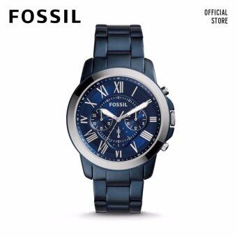 Harga FOSSIL GRANT CHRONO BLUE STAINLESS STEEL WATCH