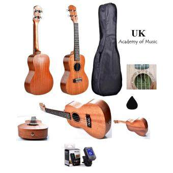 "Harga UK Concert Ukulele 24"" Inch Professional Sapelle Wood With Free Bag, Digital Tuner and Ukulele Pick"
