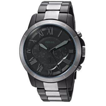 Harga Fossil Original FS5269 Men's Grant Sport Black Stainless Steel Watch