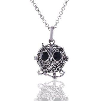Harga Cute Little Owl Pregnancy Harmony Ball Essential Oil Diffuser Pendant with Necklace Aromatherapy Locket