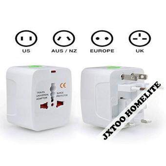 Harga International Universal Travel Multi-Adaptor Convertor (White)