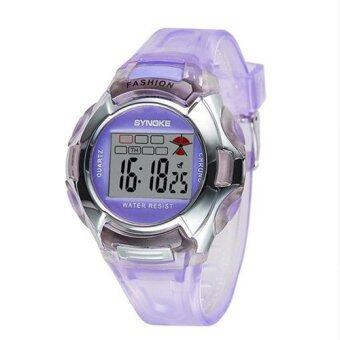 Harga Moozoo SYNOKE New Brand Fashion Girl Boy Women Sports Watch Children Kids LED Digital-watch Alarm Noctilucous Waterproof Wrist Watches MZS5LS (Color:As First Picture)