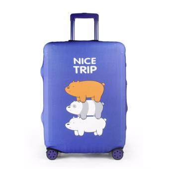 Harga Luggage Protector Cover Travel Suitcase - Nice Trip Navy - M size