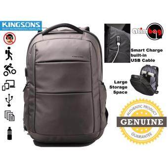 Harga Genuine Authentic Kingsons Power Series Smart Anti-Thief Travel Outdoor Business Casual 15.6 Inch Waterproof Laptop Backpack For Men Women External USB Charge Computer Bag KS3142W