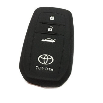 Harga Silicone Key Cover Case Compatible with Toyota Camry & Fortuner (Black)