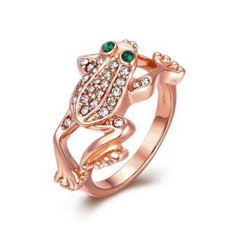 Harga 2017 Fashion Rose Gold Frog Diamond Ring - New Fancy