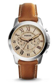 Harga Fossil Men's FS5118 Grant Chronograph Light Brown Leather Watch (Light Brown)
