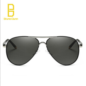 Harga aviator men sunglasses polarized male driving fishing sun glasses for men 8503(gun black frame)