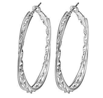 Harga Bigood Charm Plated 925 Sterling Silver Drop Clip Hoop Dangle Earrings Ear Stud