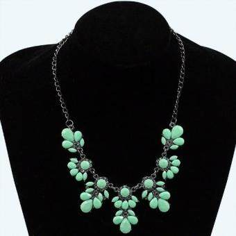Harga FANCICO Popular Resin Flower Pendant Necklace