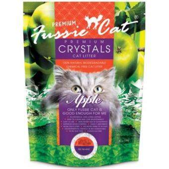 Harga Fussie Cat Premium Crystals Cat Litter Apple 5L x 6pcs