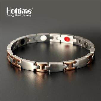 Harga Hottime New Healthy Magnetic Bracelet Lady Heart Design 304 Stainless Steel Health Energy Bracelet Hand Chain Jewelry 10098