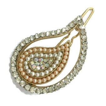 Harga Yona Fashion Fancy Design Pearl Stone Hair Pin (Multicolour)