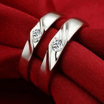 Harga Vivere Rosse Always Mine 18K White Gold Plated Couple Rings (Silver)