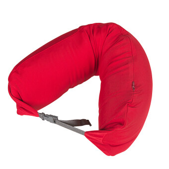 Harga MUJI Inspired Well Fitted (Microbead) Travel Pillow Red