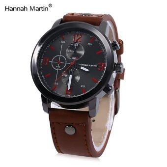 Harga Hannah Martin HM - 2012 Men Leather Band Quartz Watch