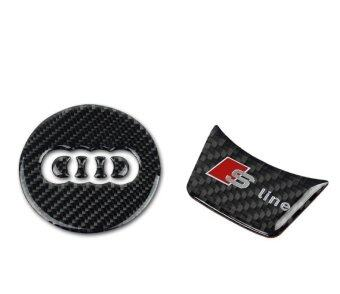 Harga Sline Steering Wheel Steering-Wheel Carbon Fiber sline s line 3D Car Stickers Car Styling For Audi A1 A3 A4 A5 A6 A7 A8 Q3 Q5 Q7