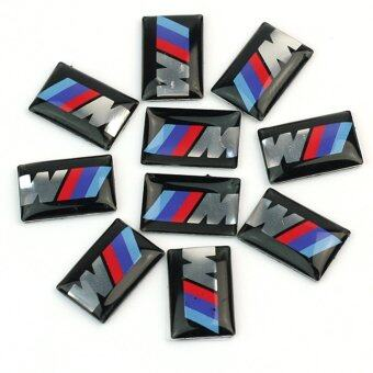 Harga 10pcs Self-Adhesive M Tec Sport BADGE STICKER EMBLEM fits BMW M3 M5 M6 Wheel New