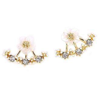 Harga FANICICO New Style Daisy Fashion Back Hanging Earrings