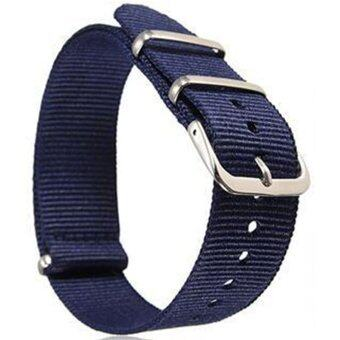 Harga Gracefulvara Men Women Nylon Sport Wrist WatchBand Strap (Blue) - 20mm