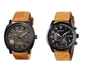 Harga Set of 2 Curren Men's Fashion Leather Watch