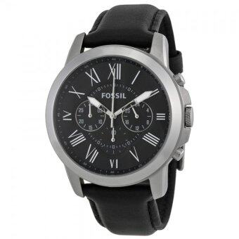 Harga Fossil FS4812 Grant Black Dial Black Leather Men's Watch
