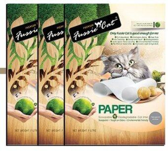 Harga Fussie Cat Litter Unscented PAPER 7L