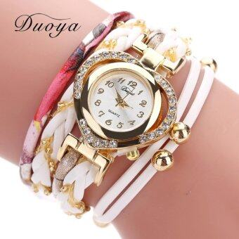 Harga DUOYA Luxury Brand Quartz Wrist Watch Ladies Fashion Watches Women Sport Strap Outdoor Gold Casual Girl Clock Outdoor Gift