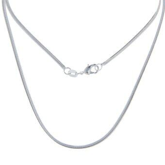 Harga Bigood 2 Pcs Plated 925 Sterling Silver Wide Snake Necklace Chain 60cm