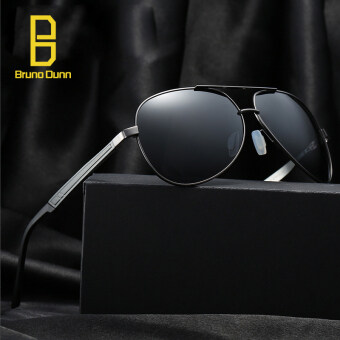 Harga polarized sunglasses titanium original mens sun glasses brand designer 339 (gun frame black lense)