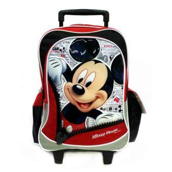Harga DISNEY MICKEY MOUSE ZIPS SCHOOL TROLLEY BAG