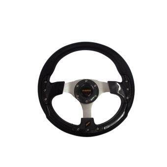 Harga MOMO 13 inch PU Steering Wheel/Drifting Steering Wheel/Racing Steering Wheel -Carbon