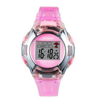 Harga Synoke children men and women watches luminous waterproof student watches 99329 pink