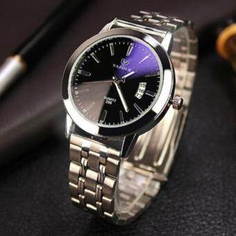 Harga YAZOLE 2017 Top Brand Luxury Famous Quartz Watch Fashion Stainless Steel Band Famous Male Wristwatch YZL296X-Black