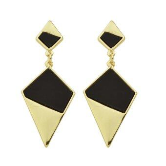 Harga Joywish New Design Geometric Shape Metal Hanging Earrings