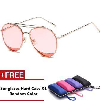 Harga Aussie Brand Unisex Retro Aluminum Sunglasses Polarized Lens Vintage Eyewear Accessories Sun Glasses For Men/Women (Pink)