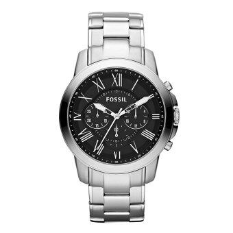 Harga Fossil Men Grant Chronograph Stainless Steel Watch FS4736