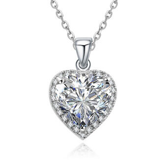 Harga LOVENGIFTS Heart Solitaire Pendant Necklace