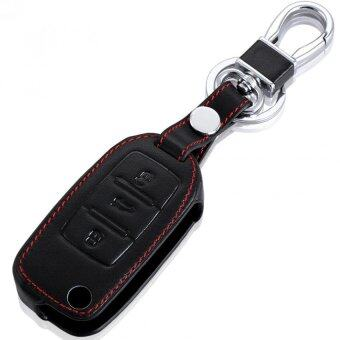 Harga Leather Key Cover case Fit For Volkswagen VW POLO Jetta Passat B5 B6 B7 Golf scirocco touran CC Tiguan Bora Tourage(red line) - Intl
