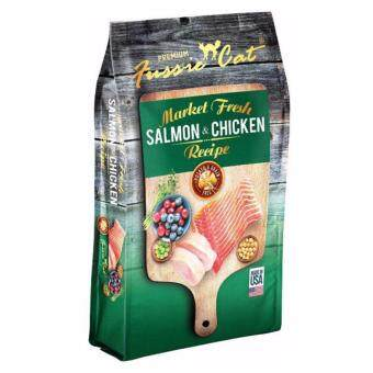Harga FUSSIE CAT MARKET FRESH SALMON & CHICKEN (CAT) 1.8KG