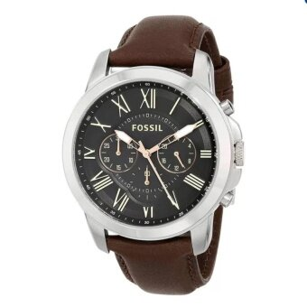Harga JOOX Fossil Men Grant Brown Leather Strap Watch FS4813