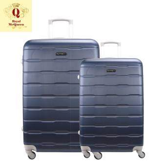 Harga Royal McQueen Hard Case 4 Wheels Spinner Light Weight (20+24) Luggage – QTH 6910 (NAVY)
