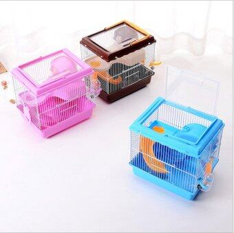 Harga 2016 New Free transportation hamster cage Super Hamster Cages Habitat Cage For Hamster Hamster The cage 27*21*27