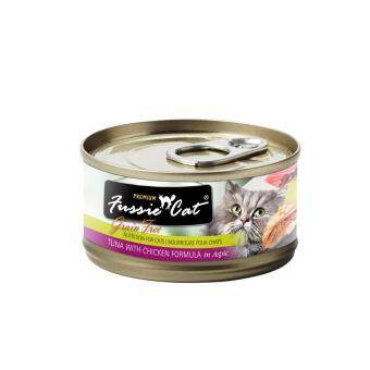 Harga Fussie Cat Premium Tuna with Chicken Canned 80g (Black Label) x 24 cans
